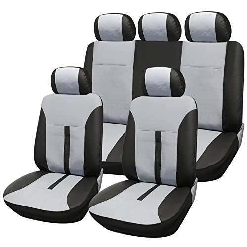 Baby Sitzbezug Auto Schwarz (Universal Sitzbezüge für Auto Schonbezüge Sitzbezug Schonbezug Set Sitzschoner Schwarz-creme AS7288cm)