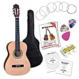 Classic Cantabile AS-861 Guitare de Concert 3/4 Ensemble Apprentissage