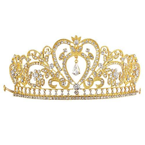 nelnissa Silber vergoldet Diamant Schmuck Braut Krone Hot Kuchen Bride 's Kopfschmuck