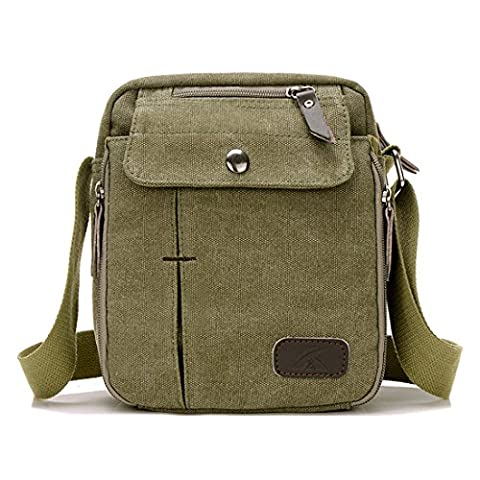 Super Modern Men Small Vintage Canvas Messenger Bag Cross body bag Pack Organizer Satchel Bag Durable Multi-pocket Sling Shoulder Bag