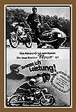 Schatzmix Motorrad Kreidler Florett Das nenne ich Leistung Metal Sign deko Sign Garten Blech