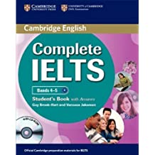 Complete IELTS Bands 4-5 Student's Pack (Student's Book with Answers with CD-ROM and Class Audio CDs (2)) by Guy Brook-Hart (2012-03-26)