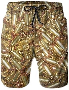 Doormat bag Beach Surfers Awesome Gold Bullet Men's Swim Trunks Short Elastic Waist Pants
