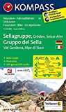 KOMPASS Wanderkarte Sellagruppe - Gröden - Seiseralm / Gruppo di Sella - Val Gardena - Alpe di Siusi: Wanderkarte mit A
