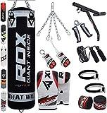 RDX Punch Bag Filled Set Kick Boxing MMA Heavy Training Muay Thai Gloves Punching Mitts Hanging...