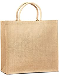 Eco Friendly Reusable Bag Women Shopping Bag Jute Burlap Tote Bag With Cotton Webbed Handles All Natural In Color...