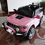 FP-TECH Auto ELETTRICA per Bambini Macchina Jeep 2 POSTI 4WD 12V con Telecomando USB MP3 (Rosa)