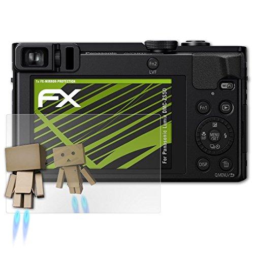 atFoliX Displayfolie kompatibel mit Panasonic Lumix DMC-ZS50 Spiegelfolie, Spiegeleffekt FX Schutzfolie