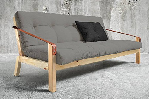 Sofa-34-Sitzer-Convertible-Poetry-skandinavischer-Stil-Futon-Granit-Grey-Schlafsack-130-190-cm