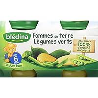 Blédina Pot Pommes de Terre Légumes Verts 2 x 130 g - Lot de 6