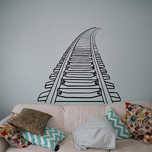 hllhpc Eisenbahn Eisenbahn Wandtattoo Zug Schiene Vinyl Aufkleber Home Interior Wandbild Dekor Haushaltswaren Benutzerdefinierte Aufkleber Poster62 * 57 cm