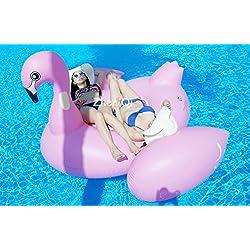 Flamenco hinchable Inflable Pool Float Giant tamaño gigante para la piscina o playa flotador piscina Mega Hinchable Animal Inflable Para Natación Juguetes (190cm X 190cm X 130cm)