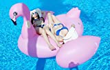 Flamenco hinchable Inflable Pool Float Giant tamaño gigante para la piscina o playa flotador piscina Mega Hinchable Animal Inflable Para Natación Juguetes (190cm X 190cm X 130cm)