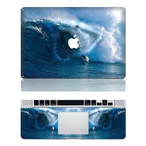 Vati fogli smontabili Surfers Encounter Copertina Squali di protezione completa di arte del vinile Decal Sticker Cover per Apple MacBook Pro Retina da 13,3