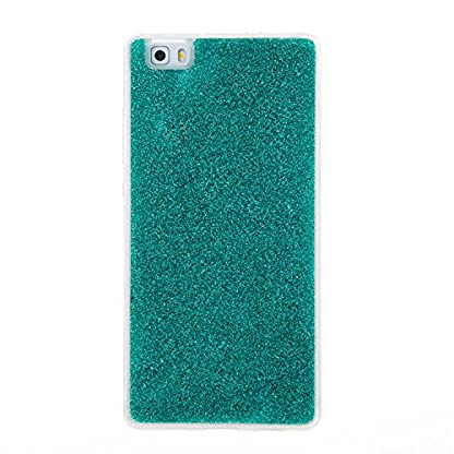 COZY HUT Luxury Bling Glitter Sparkle Case for Huawei P8 Lite Shockproof Case Shining Shock Absorption TPU Bumper Protective Phone Case Cover for Huawei P8 Lite - green 2