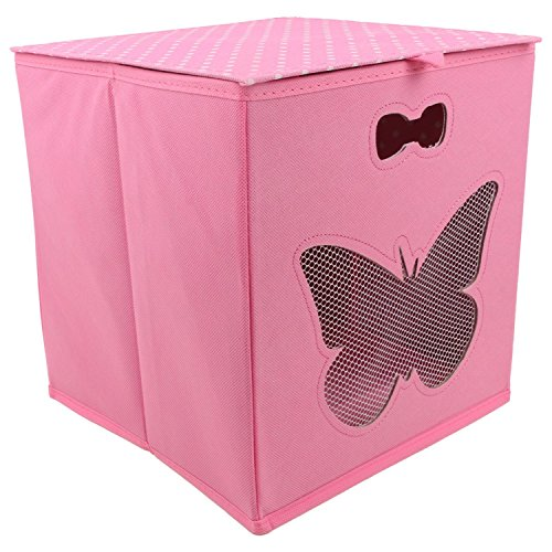 Miamour Butterfly Fabric Storage Organizer, Pink