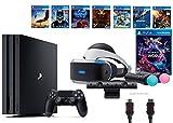 PlayStation VR Launch Bundle 9 Items:VR Launch Bundle,PlayStation 4 Pro 1TB,7 VR Game Disc Rush of Blood,Valkyrie,Battlezone,Batman: Arkham VR,DriveClub,Combat League,Eagle Fli(US-Version, Importiertes)