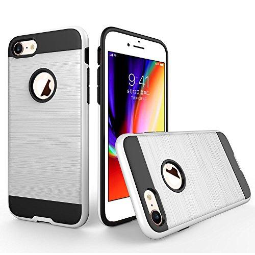UKDANDANWEI iPhone 6 / 6s Étui,Coque Back Cover Rigide Antichoc Renforcée Housse de Protection Étui à rabat Case pour iPhone 6 / 6s - Rose Gold Blanc