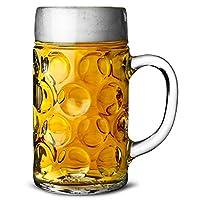 German Beer Stein Glass 2 Pint | Classic Beer Tankards, Beer Mugs
