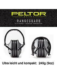 Original PELTOR USA elektronischer AKTIV Gehörschutz Kopfhörer RANGE GUARD