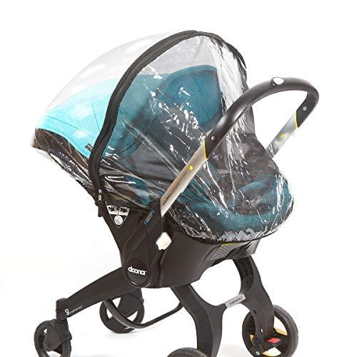 Bedford Baby Regenschutz für Autositz, universeller Wetterschutz, passend für Doona und die meisten Babytragenmarken, doppelschichtiges Vinyl und Netz-Schutz, wasserdicht, schnee- und staubdicht