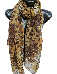 Large Soft light weight wild leopard face spots animal print ladies fashion shawl scarf sarong - by Fat-Catz-copy-catz