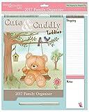 Arpan - Calendario planner familiare 2017, grande, motivo: gufi, con penna, lista della spesa, spazio per date da ricordare, cose da fare, multicolore