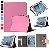 ZOC Leather Case iPad 6th 2018 9.7 Kemile Ultra Slim W Pencil Holder Wake Sleep Cover For iPad 2017 2018 A1893 A1954 Case Pink