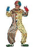 Guirca- Costume da Clown Taglia L, Multicolore, Unica, 84362