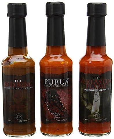 The Chilli Alchemist The Red King Purus The Everlasting Flame chilli sauce box set