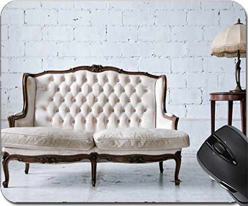 Msd natural rubber mouse pad mouse pad/tappetino design 14899780bianco in vera pelle stile classico divano in vintage room con lampada da scrivania