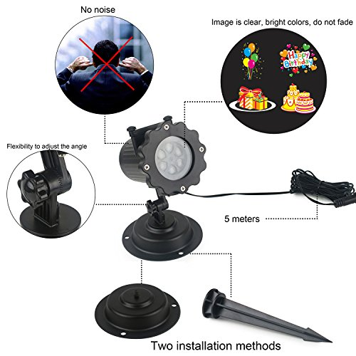 Luz de proyecci n led navidad impermeable proyectores - Proyectores de luz ...