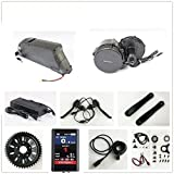 48V 500W Bafang 8fun Mittelmotor Conversion Kits with LCD-TFT850C Display + 48V 11.6AH Down Tube ATLAS Frame Case Panasonic Cell Battery with 2A Charger