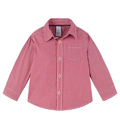 C&A Baby Jungen Karohemd Hemdchen Karo Vichy Kariert rot weiß Größe 68