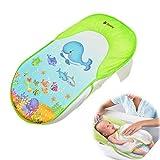 Cxsions Faltbare Newborn Badewanne/Bett/Pad Kinder Dusche Net Baths Stuhl/Regal Badewanne Unterstützung für 0-12 Monate Baby Badekissen