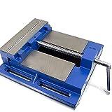 BITUXX® Universal Maschinenschraubstock 200mm Schraubstock Säulen Tisch Stand Bohrmaschine