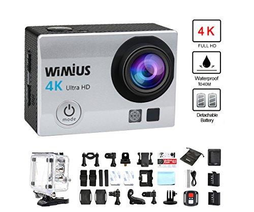 Camaras-Deporte-4K-WiMiUS-Q3-WIFI-Ultra-HD-Impermeable-DV-Videocmara-16MP-170-Grados-gran-Angular-2-Pulgadas-LCD-Screen-24G-control-Remoto-2-Bateras-Recargables-Plata
