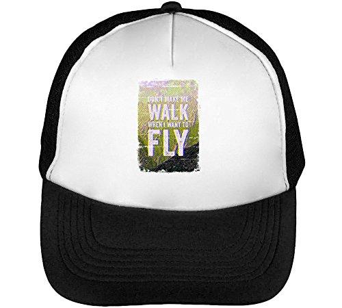 Preisvergleich Produktbild Sunny / Dont Make Walk When I Want to Fly / Phrases Collection / Cool T Shirt / Nice to / Super / Osom Words / Popular Quotes Men's Baseball Trucker Cap Hat Snapback Black White
