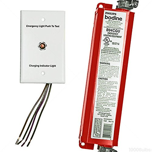 bdl94C Bodine Notfall-Backup-Batterie-90min.-Betrieb 113-42W oder 213-39W Pin Twin Quad oder Triple doppelröhrige CFL Lampen ohne Integral Starter-120/277Volt - 277v Lampen