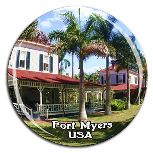 Weekino Edison & Ford Winter Estates Fort Myers Amerika USA Kühlschrankmagnet 3D Kristallglas Tourist City Travel Souvenir Sammlung Geschenk Stark Kühlschrank Aufkleber