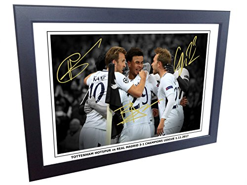 7×5-Tottenham-Hotspur-vs-Real-Madrid-3-1-Signed-Harry-Kane-Dele-Alli-Christian-Eriksen-Spurs-Autographed-Photo-Photograph-Picture-Frame-Gift