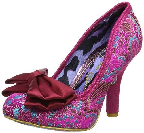 IRRA4|#Irregular Choice Mal E Bow, Zapatos de tacón con Punta Cerrada para Mujer, Pink AX, 4 EU