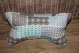 Leseknochen Nackenstütze Nackenrolle Buchstütze Relaxing Neck Pillow Tabletstütze Lagerungskissen türkis beige braun