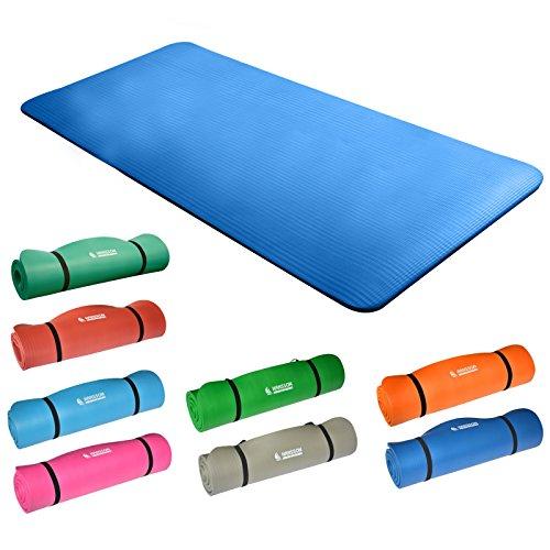 Hansson.Sports NBR Fitness Yoga Pilates Gymnastikmatte 183x80x1,5cm - blau