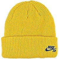 Nike U NK Beanie Fisherman Unisex-Kappe für Erwachsene, Mehrfarbig (Yellow Ochre/Blue Void)