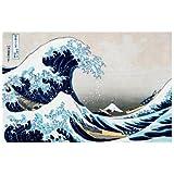 Reproduction d'art 'La grande vague de Kanagawa', de Katsushika Hokusai, Taille: 61 x 46 cm