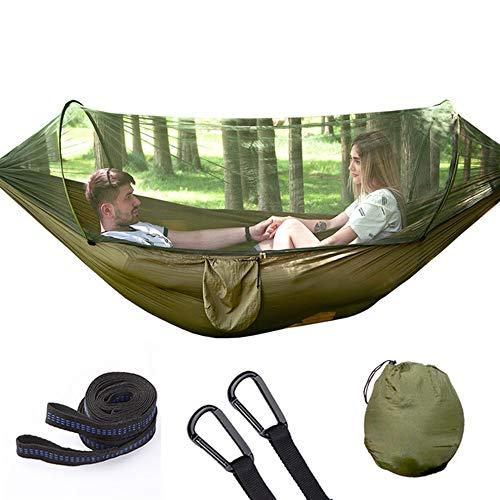 AFFC Camping-Hängematten sind Moskitonetze - tragbare Indoor-Outdoor-Rucksäcke für Überleben und Reisen, Bergsteigen, Höfe, Strände und Touren,A