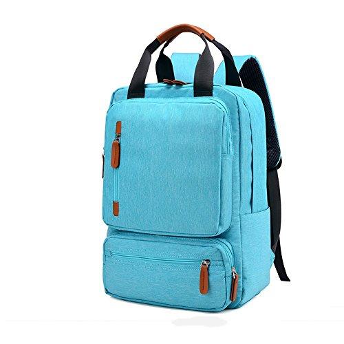 Campus zaino casual, tela impermeabile ultra light zaino fashion zaino portatile grande capacità zaino unisex school bag, nero, azzurro, blu scuro, grigio chiaro, grigio scuro, rosa ( color : azure )