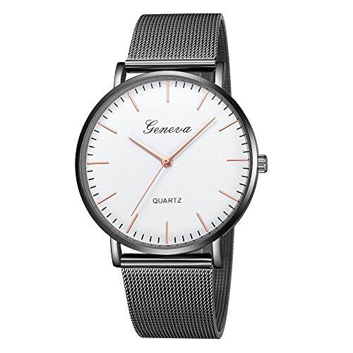 XZDCDJ Damen Uhr Armbanduhr Bracelet Jungen Uhr Womens Classic Quartz Edelstahl Armbanduhr ArmbanduhrenSchwarz519 -