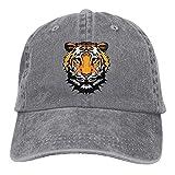 Fsrkje Adult's Tiger Face Denim Jeanet Baseball Hat Adjustable Trucker Cap SK5583